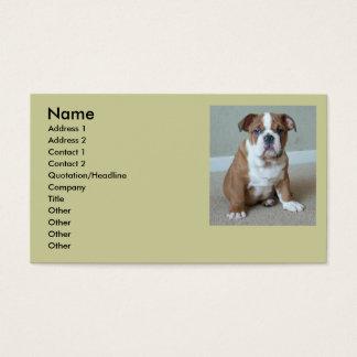 English Bulldog Puppy Business Cards