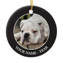 English Bulldog Puppy Ceramic Ornament