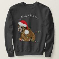 English Bulldog Puppy Christmas Sweatshirt