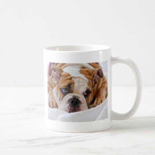 English bulldog puppy classic white coffee mug
