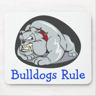 English Bulldog Puppy Dog Cartoon Mascot Mouse Pad