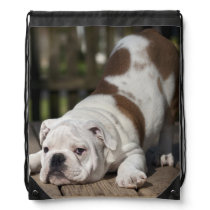 English Bulldog Puppy Drawstring Backpack