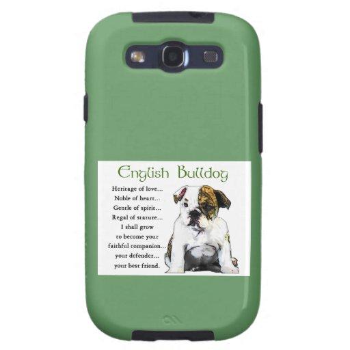 English Bulldog Puppy Heritage of Love Galaxy S3 Cover