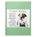 English Bulldog Puppy Heritage of Love Spiral Note Books
