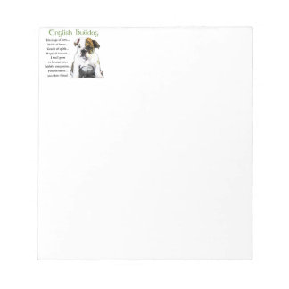 English Bulldog Puppy Heritage of Love Notepad