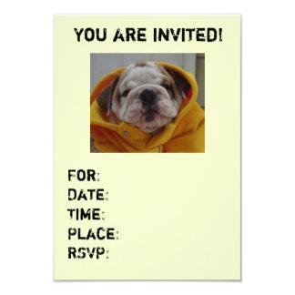 English Bulldog Puppy party invitations