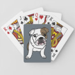 "English Bulldog Puppy Pet Dogs Illustration Playing Cards<br><div class=""desc"">English bulldog playing cards</div>"