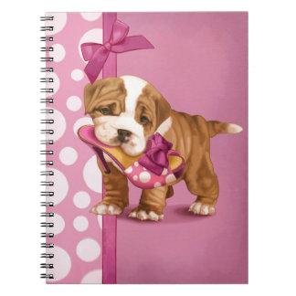 English Bulldog Puppy Spiral Notebook