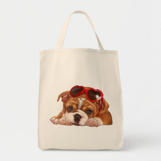 English Bulldog Puppy Tote Bag
