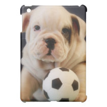 English Bulldog Puppy w/Soccer Ball iPad Mini Cover