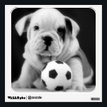 "English Bulldog Puppy w/Soccer Ball Wall Sticker<br><div class=""desc"">This English Bulldog puppy loves soccer!</div>"