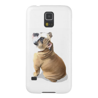 English bulldog puppy with heart design CUSTOMIZE Case For Galaxy S5