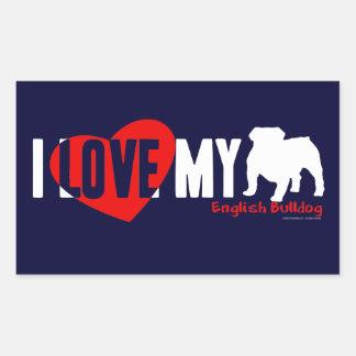 English Bulldog Rectangular Sticker