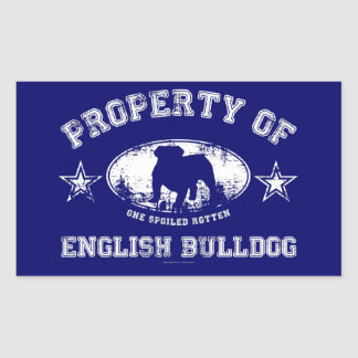 English Bulldog Rectangular Sticker