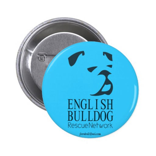 English Bulldog Rescue Button