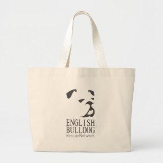 English Bulldog Rescue Large Tote Bag