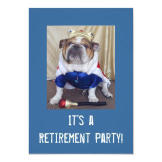 English Bulldog Retirement Party Invitations