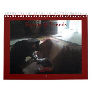 English Bulldog Roscoe & Friends Calendar