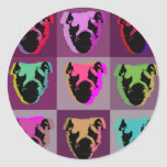 English bulldog round sticker