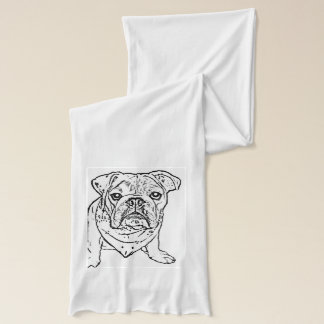English bulldog scarf