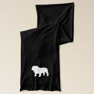 English Bulldog Silhouette Scarf