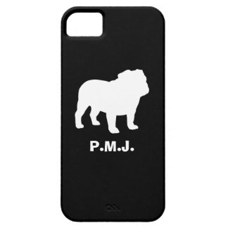English Bulldog Silhouette with Custom Text iPhone SE/5/5s Case