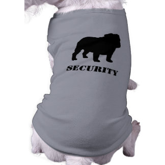 English Bulldog Silhouette with Customizable Text Dog Clothing