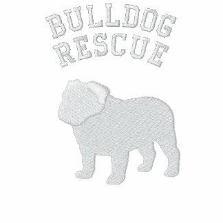 English Bulldog Silhouette with Customizable Text Embroidered Shirt