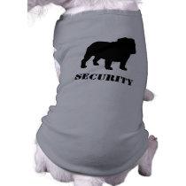 English Bulldog Silhouette with Customizable Text Tee