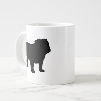 English Bulldog Silhouettes 20 Oz Large Ceramic Coffee Mug