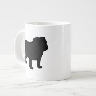 English Bulldog Silhouettes Jumbo Mugs