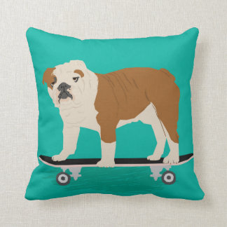 English Bulldog skateboard pillow