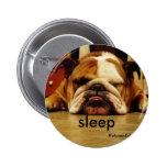 english-bulldog, sleep 2 inch round button