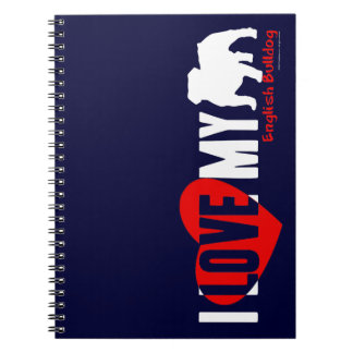 English Bulldog Spiral Notebook