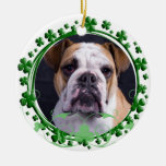 English Bulldog St. Patrick's Day Ornament