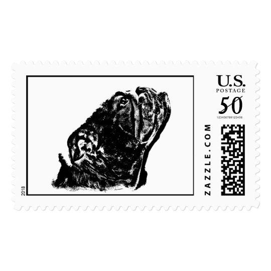 English bulldog stamp