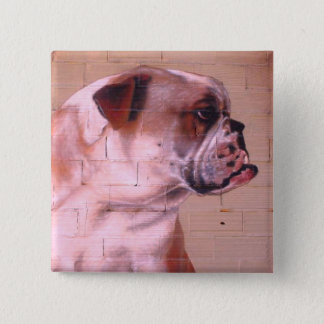 English Bulldog Street Art Button