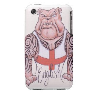 English Bulldog Tattoo Blackberry Curve Case-Mate  iPhone 3 Covers