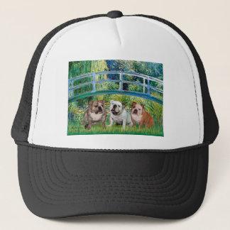 English Bulldog Trio - Bridge Trucker Hat