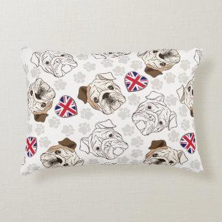English Bulldog U0026amp; Union Jack Accent Pillow
