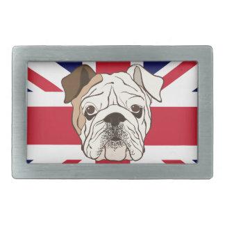English Bulldog & Union Jack Belt Buckle