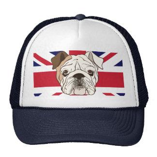 English Bulldog & Union Jack Cap