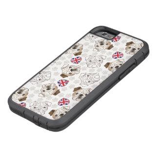 English Bulldog & Union Jack iPhone Case