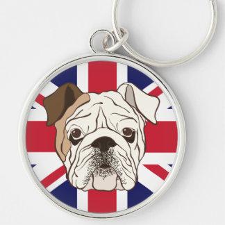 English Bulldog & Union Jack Keychain