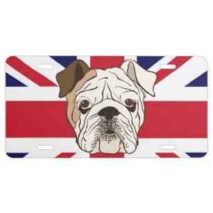 English Bulldog License Plates | Zazzle