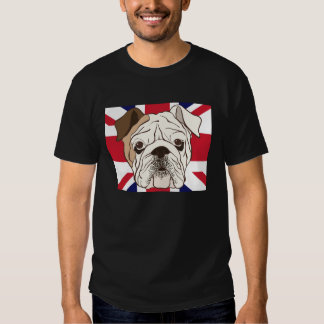 English Bulldog & Union Jack Mens Tee