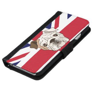 English Bulldog & Union Jack Phone Wallet Case