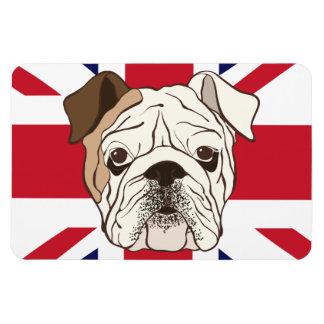 English Bulldog & Union Jack Photo Magnet