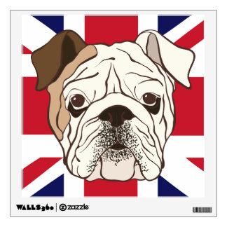English Bulldog & Union Jack Square Wall Decal