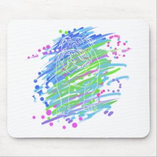 English Bulldog unique colorful pop dog art Mouse Pad
